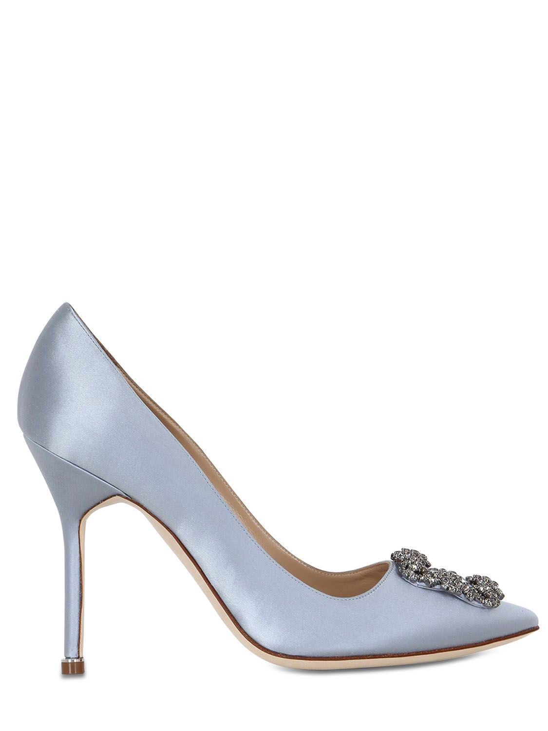 d35c607279b1 MANOLO BLAHNIK 105MM HANGISI SWAROVSKI SILK SATIN PUMPS.  manoloblahnik   shoes    manoloblahnikheelsproducts