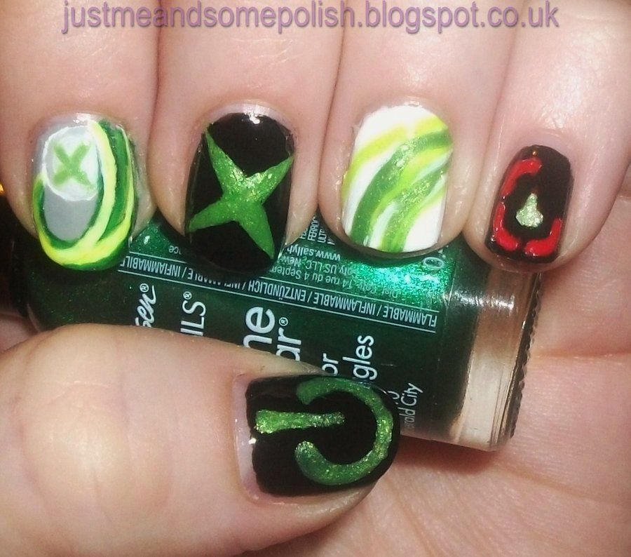 Xbox Nail art. Gah I\'m such a nerd! | Nail & Manicure Inspirations ...