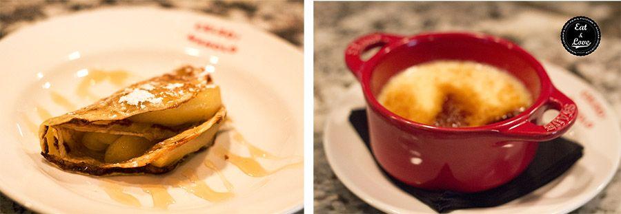 Crema catalana & Frixuelo con manzana - Celso y Manolo