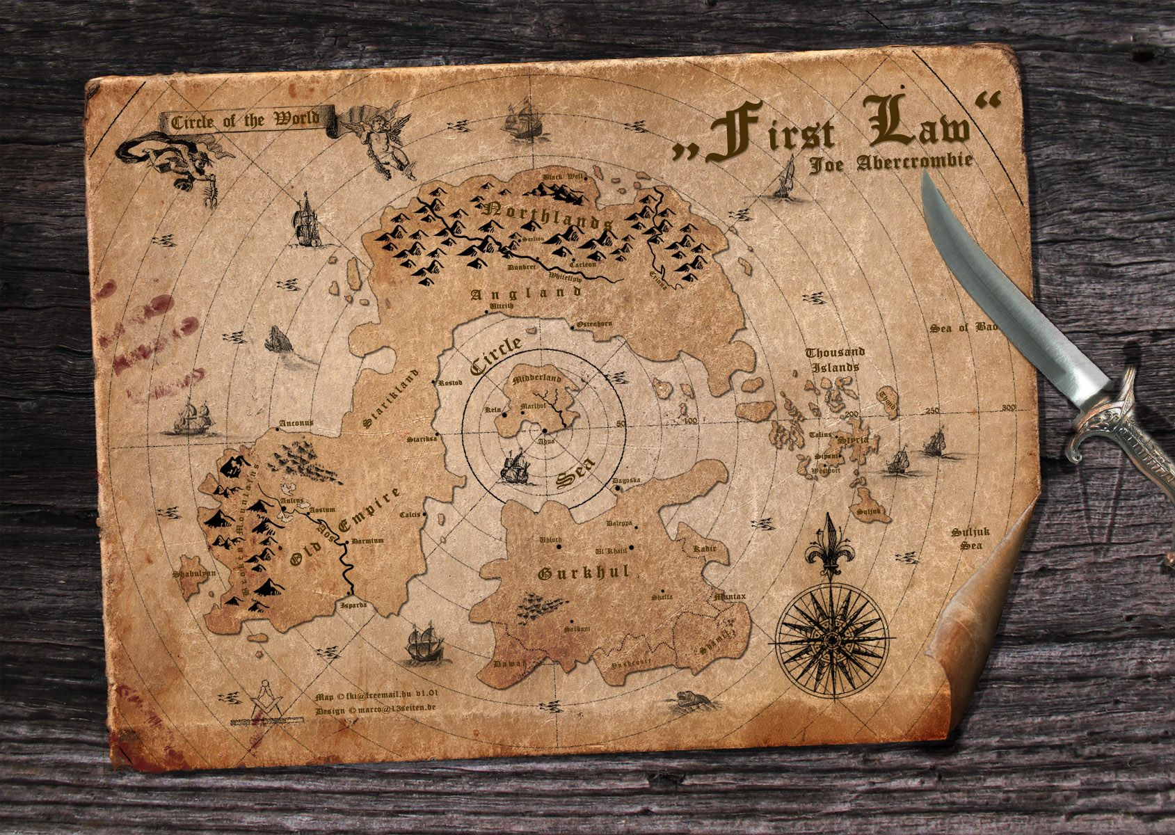 the first law world map The First Law Joe Abercrombie Map Fantasy Map Old Maps