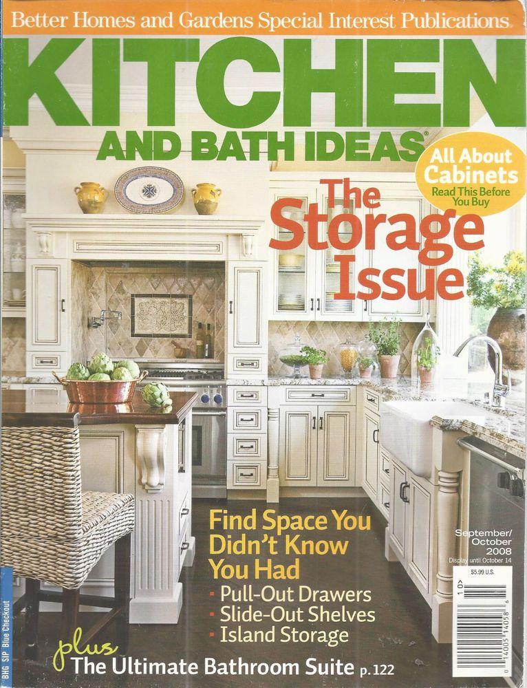 Kitchen Bath Ideas Magazine Storage Issue Cabinets September October 2008 Betterhomesgardens Kitchen And Bath Magazine Storage Kitchen