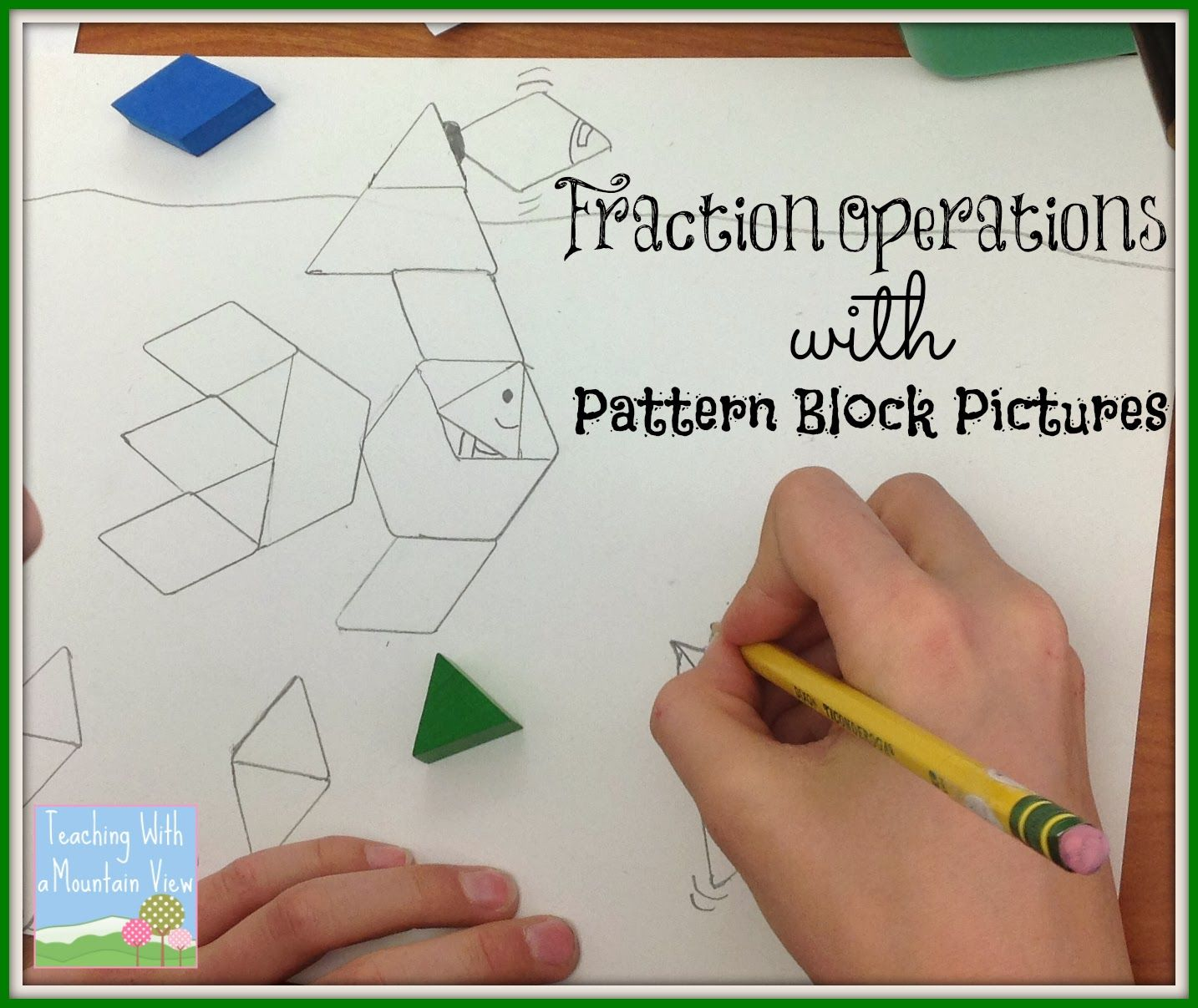 Pattern Block Fractions Amazing Decorating