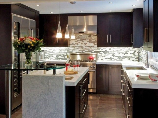 Cocinas Modernas Para Espacios Pequenos Simple Kitchen Remodel Kitchen Remodel Small Kitchen Remodel Cost
