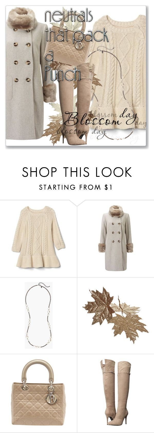 """""""Cool Neutrals"""" by andrejae ❤ liked on Polyvore featuring Gap, Jacques Vert, Chico's, Christian Dior, Chinese Laundry and neutrals"""