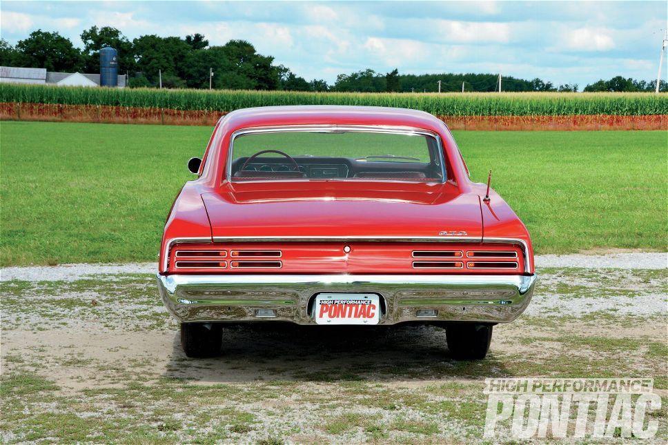 1967 Pontiac Gto Red Means Go Rear View Photo 1 Pontiac Gto Gto Pontiac
