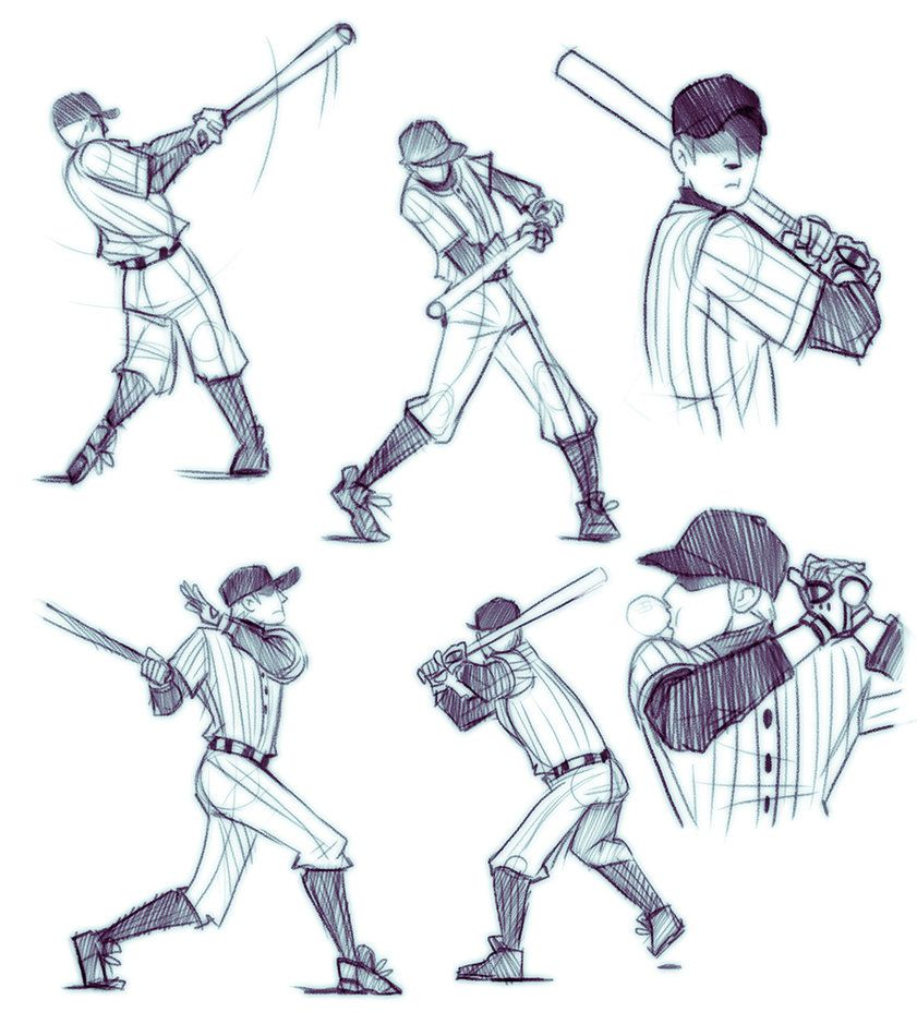 Batting Practice By Doxophilia On Deviantart Baseball Drawings