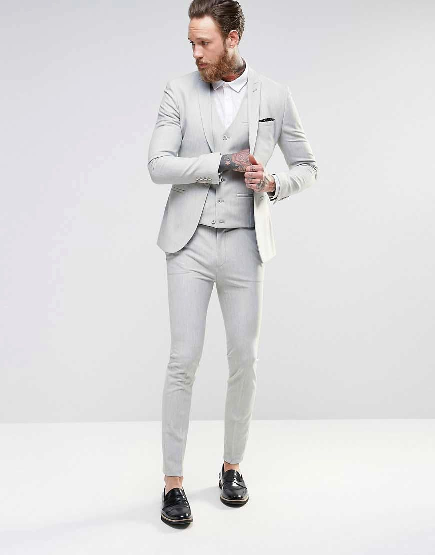 Image 1 of ASOS Super Skinny Suit In Light Gray | Clothes To Buy ...