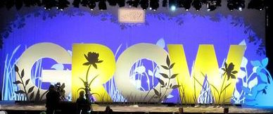 giant letter stage set - Google Search