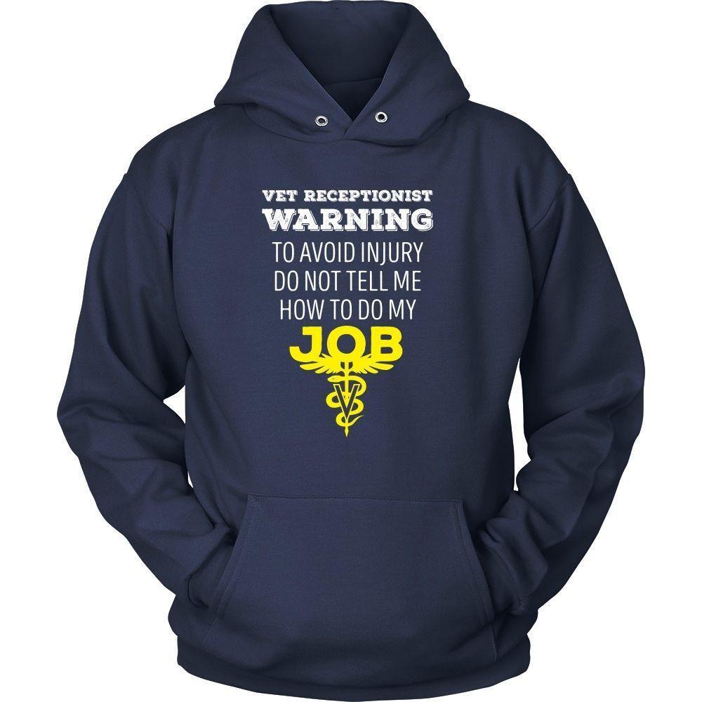 Veterinary T Shirt Vet Receptionist Warning To avoid