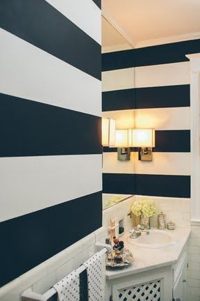 Charming ⚓Bold Painted Stripes For Bathroom