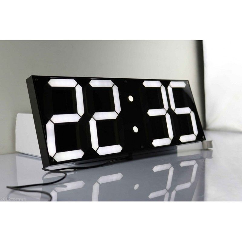 Oversize Led Digital Wall Clock Large Alarm Remote Watch Modern