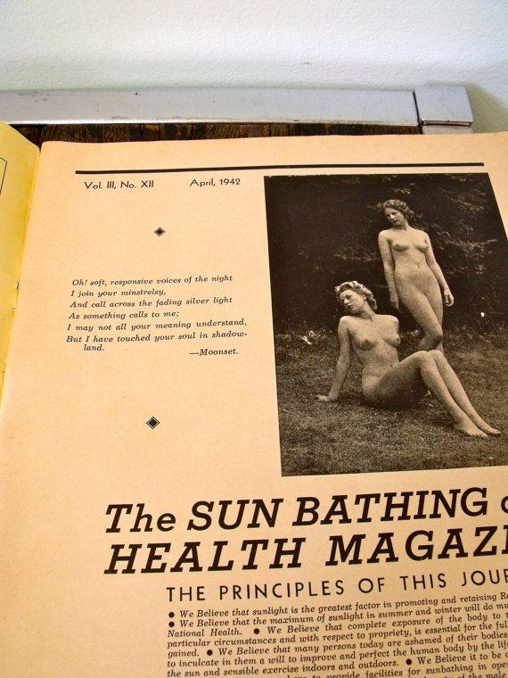 Vintage 1940s The Sunbathing And Health Magazine Nurse And