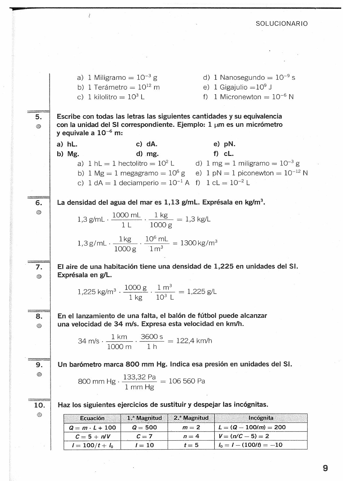 Solucionario Fisica Y Quimica 3 Eso Santillana Enseñanza De Química Química Ciencias Quimica