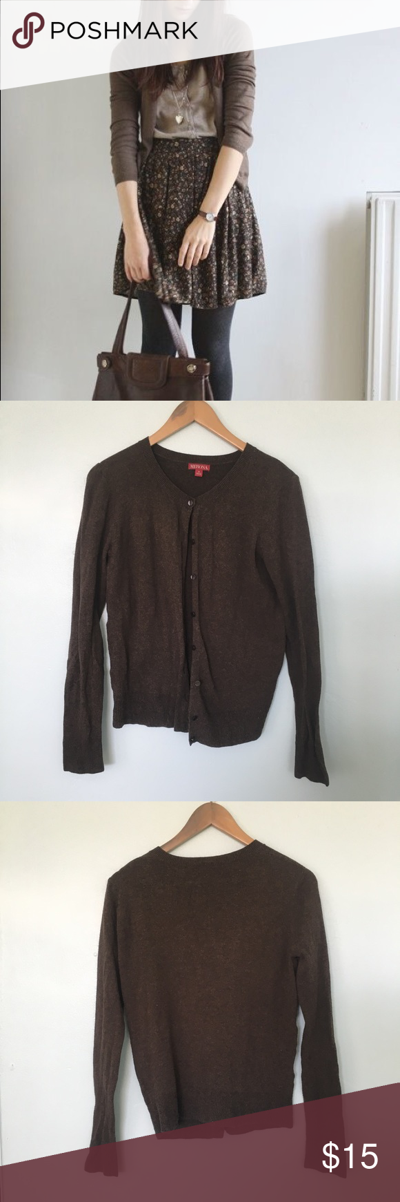 Brown Fall Cardigan Warm and cozy brown cardigan - perfect for ...