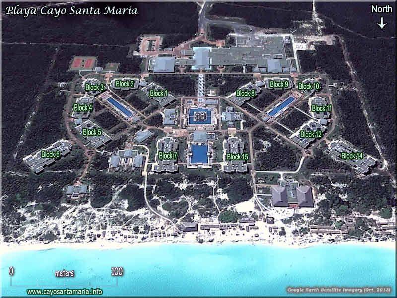 Playa Cayo Santa Maria Map Playa Cayo Santa Maria   Hotels Cayo Santa Maria   Cayos de Villa