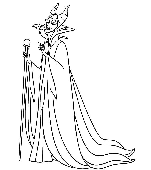 Maleficent Maleficent Setting For Scheming Coloring Pages Coloring Pages Maleficent Sleeping Beauty Coloring Pages
