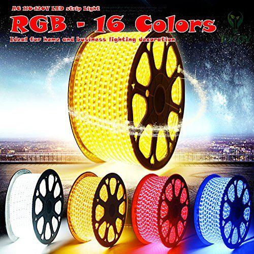size 40 91ebe de701 IEKOV™ AC 110-120V Flexible RGB LED Strip Lights, 60 LEDs/M ...