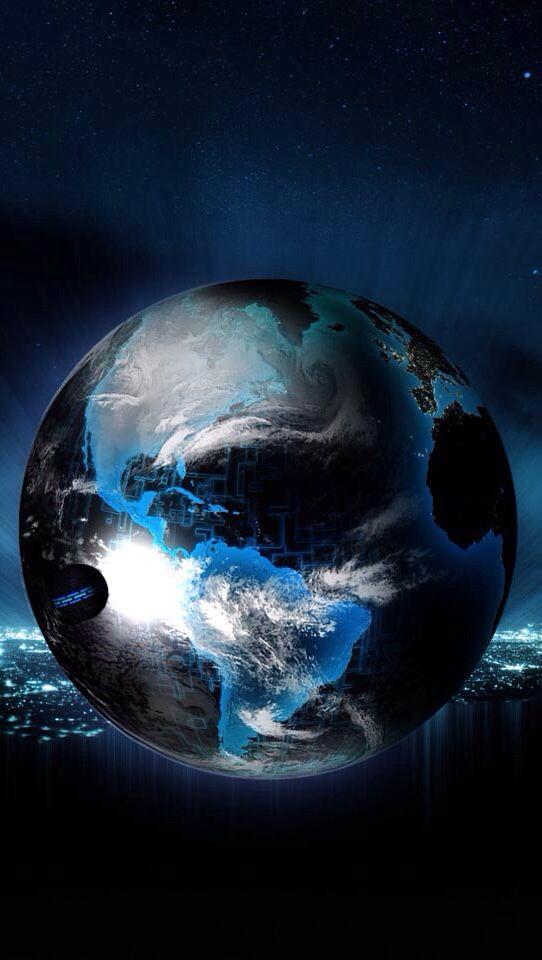 Black Blue Color Earth Art Background Hd Wallpaper Wallpaper Space Wallpaper Earth