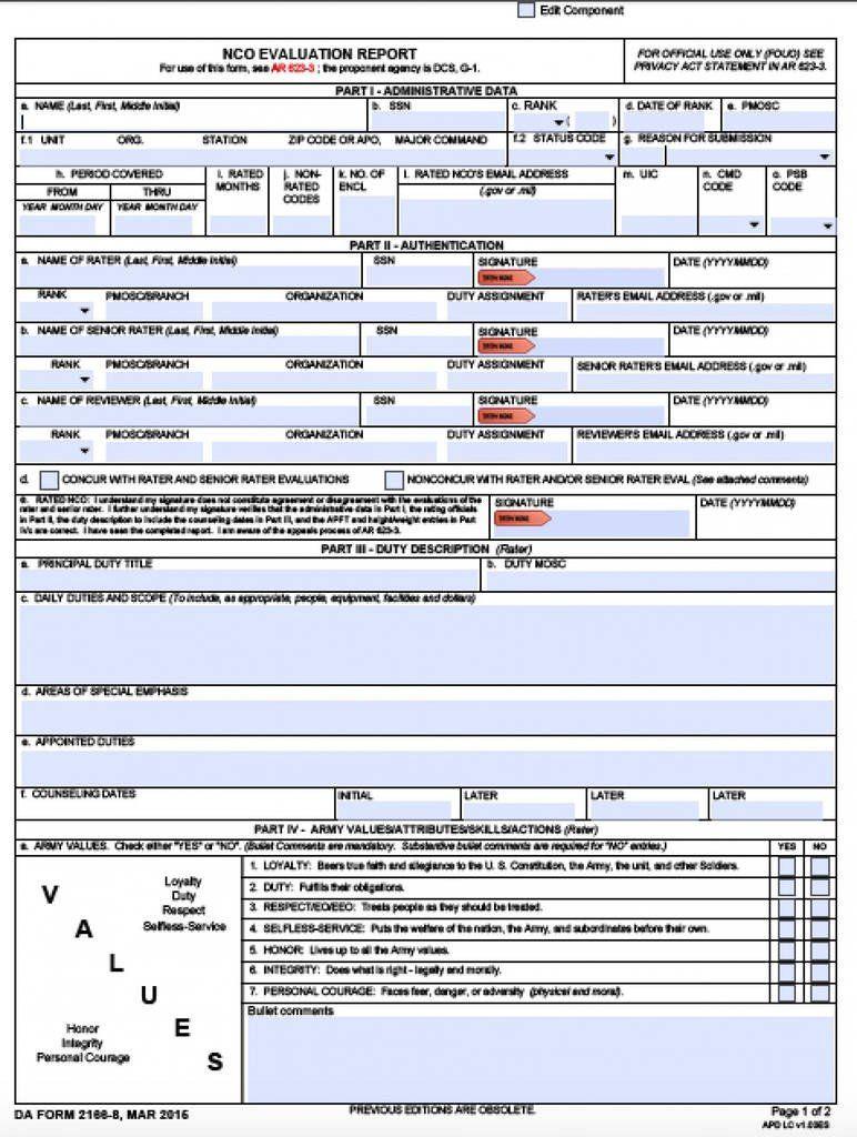 Blank Da Form 4856 Da 2404 Fillable Pdf Business Letter Template Rental Agreement Templates Dr Note For Work