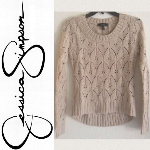 4eb196c3d8 Jessica Simpson sweater Tan Jessica Simpson sweater. Size small. Lightly  worn. I'm usually a small and it fits snug, so probably more like an xs.