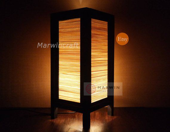Asian Oriental Bamboo Japanese Lamp Zen Bedside Lamp Floor Table