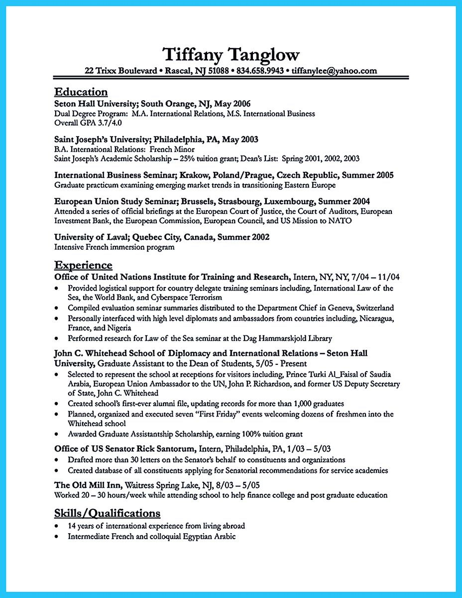 what is your purpose in making business school resume it should