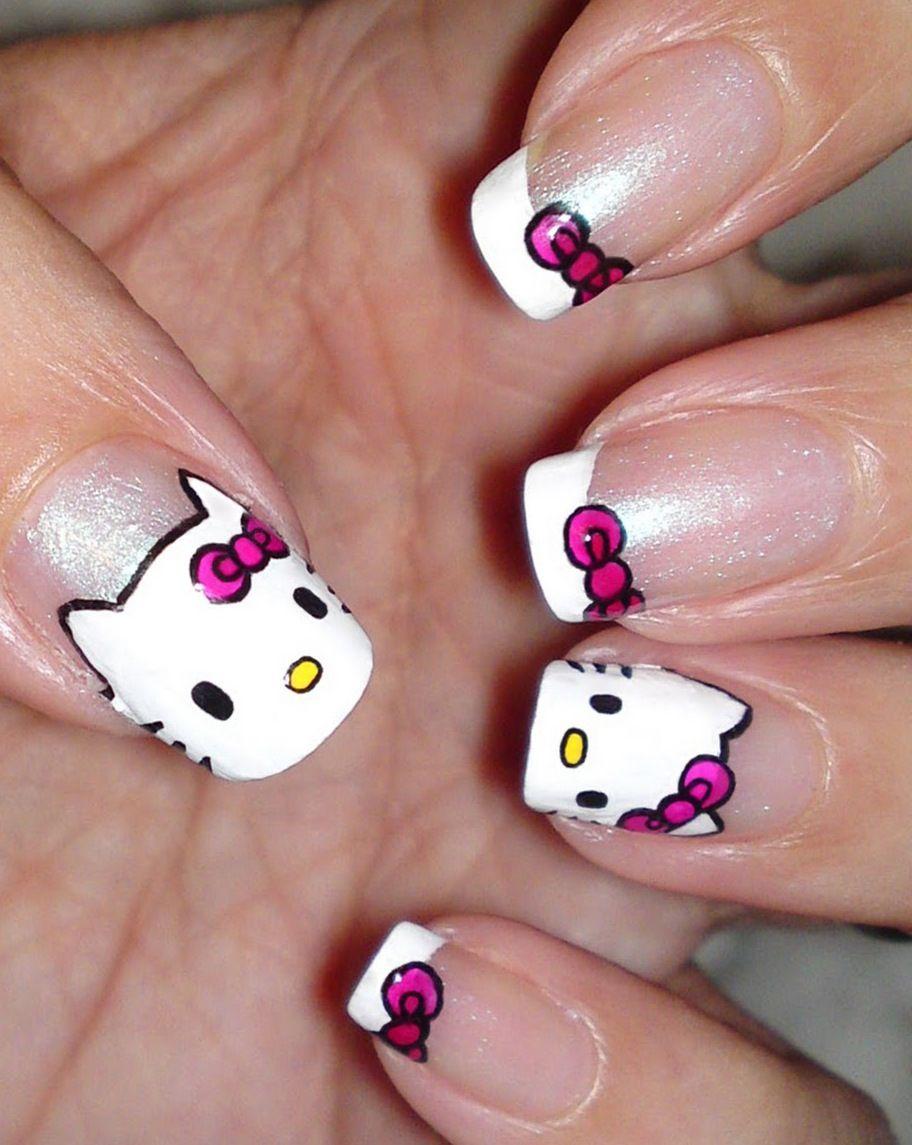 Hello Kitty Caritas Manicura Uñas De Hello Kitty Y Manicuras