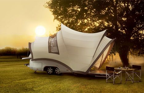 Sydney Opera Inspired Popup Camper Is Compact Luxury