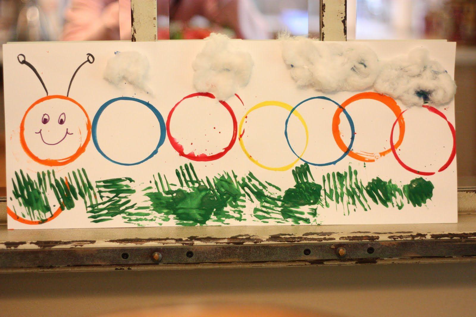 Cup Painting Caterpillar