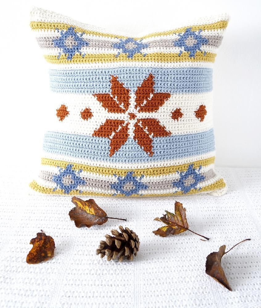 Fair Isle Cushion | Crochet cushions | Pinterest | Ganchillo, Croché ...