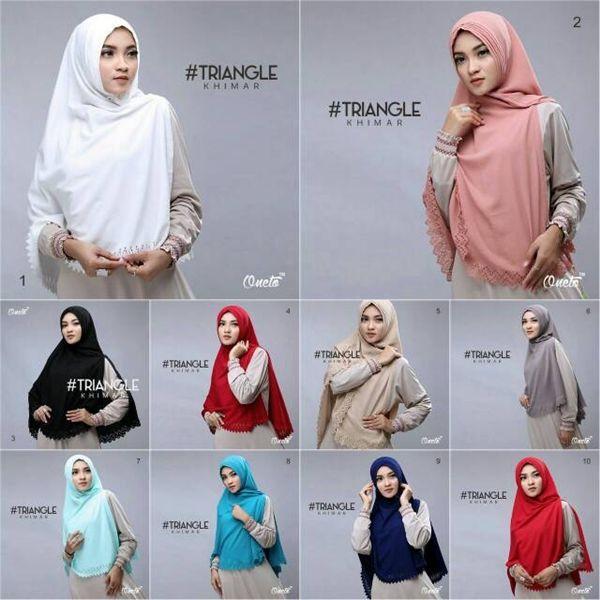 Hijab Syar I Khimar Triangle Cutting Model Kekinian 2017 Bahan