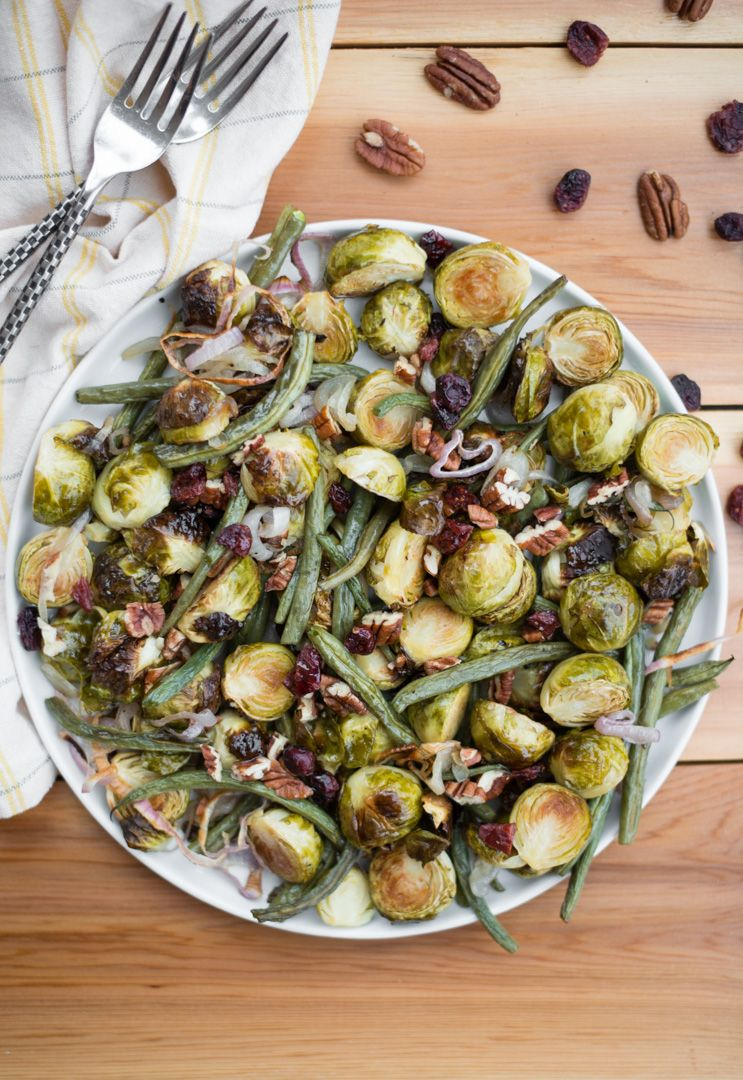 Roasted Green Bean Amp Brussels Sprout Salad Green Beans