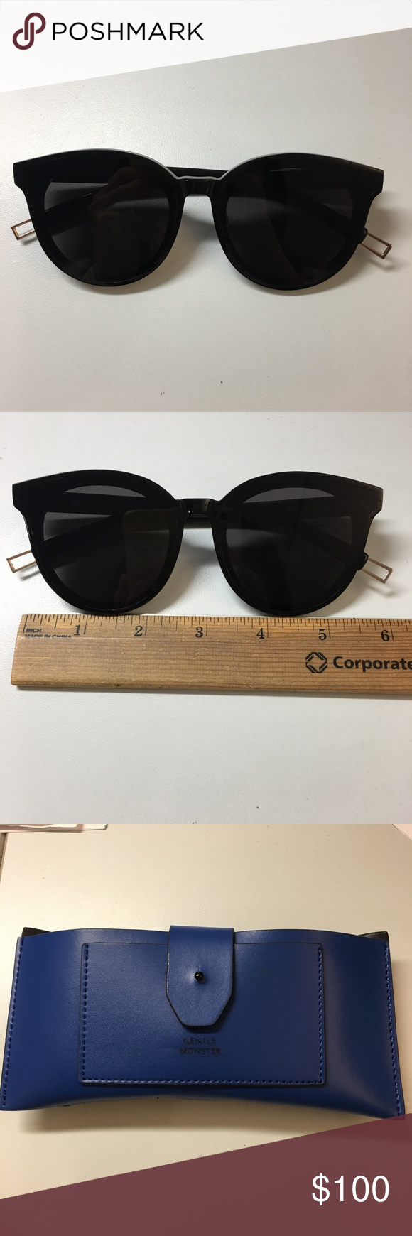 f15432015a0e Gentle monster black peter sunglasses Authentic gently used in great  condition. Comes with the sunglasses case but the box was damaged Gentle  Monster ...