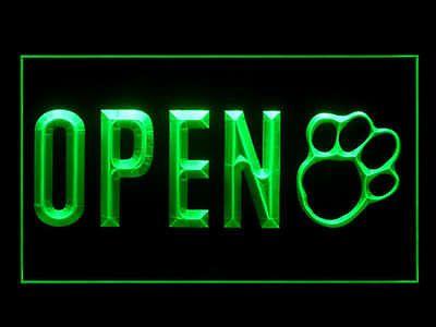Open Pet Shop Store Dog Cat Grooming Display Led Light Sign G Dog Store Pet Shops Store Pet Shop