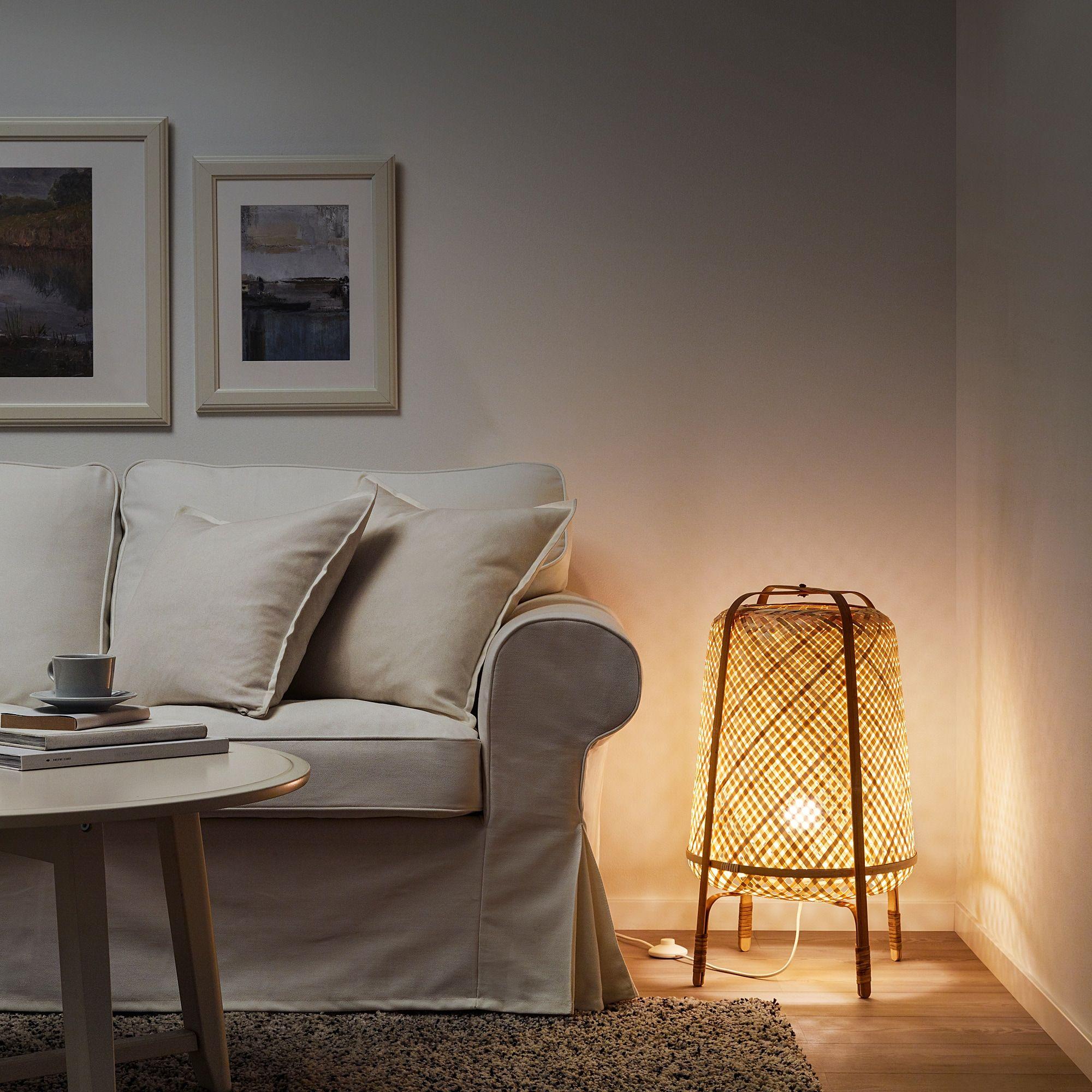 KNIXHULT bamboo, Floor lamp IKEA in 2020 | Bamboo floor