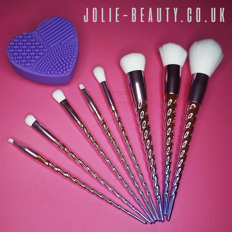 Pink and Purple Ombre Unicorn Brushes from Jolie Beauty!