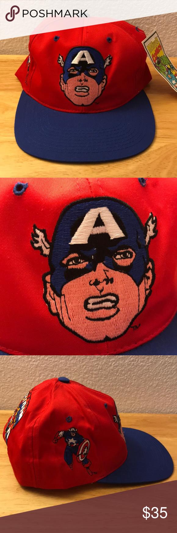 Vintage American Needle Captain America Hat Vintage American Needle Captain  America Hat a967cc25af0