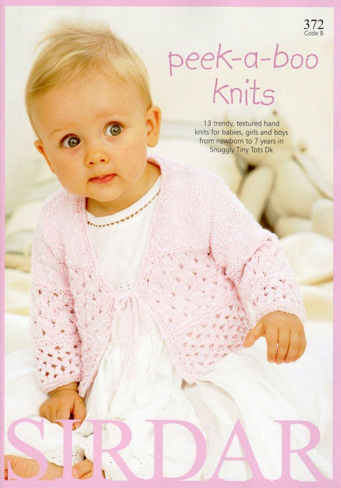Sirdar Knitting Pattern Book Peek-a-boo Knits - Code 372 | Sirdar ...