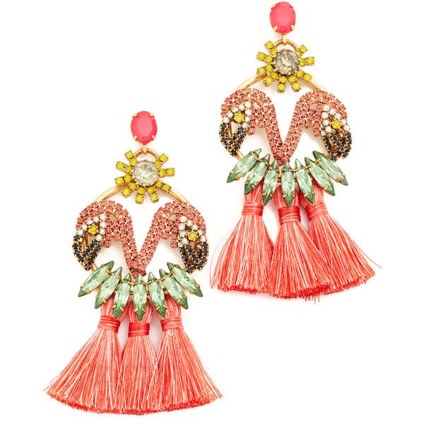 Elizabeth Cole Marina Earrings ($350) liked on Polyvore ...