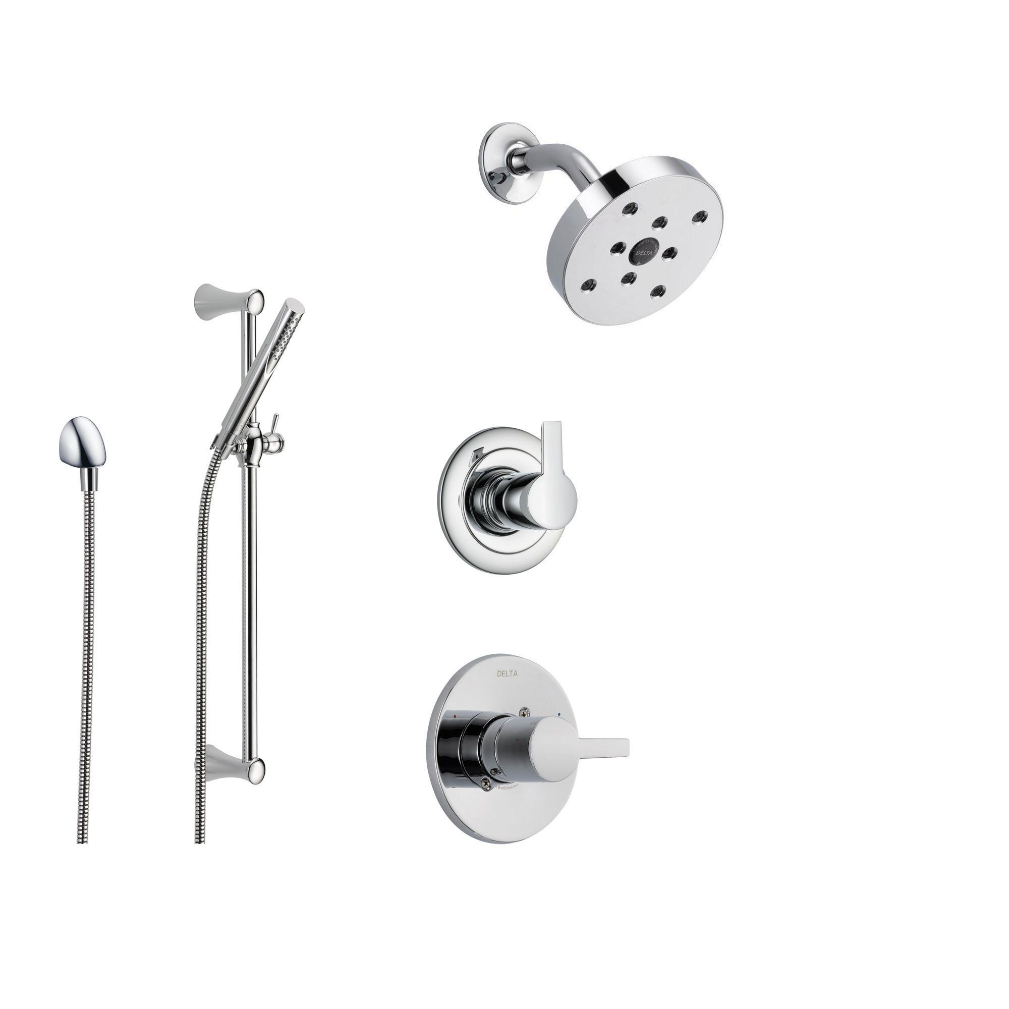 Delta Shower Diverter Delta Compel Chrome Shower System With Normal Shower Handle 3