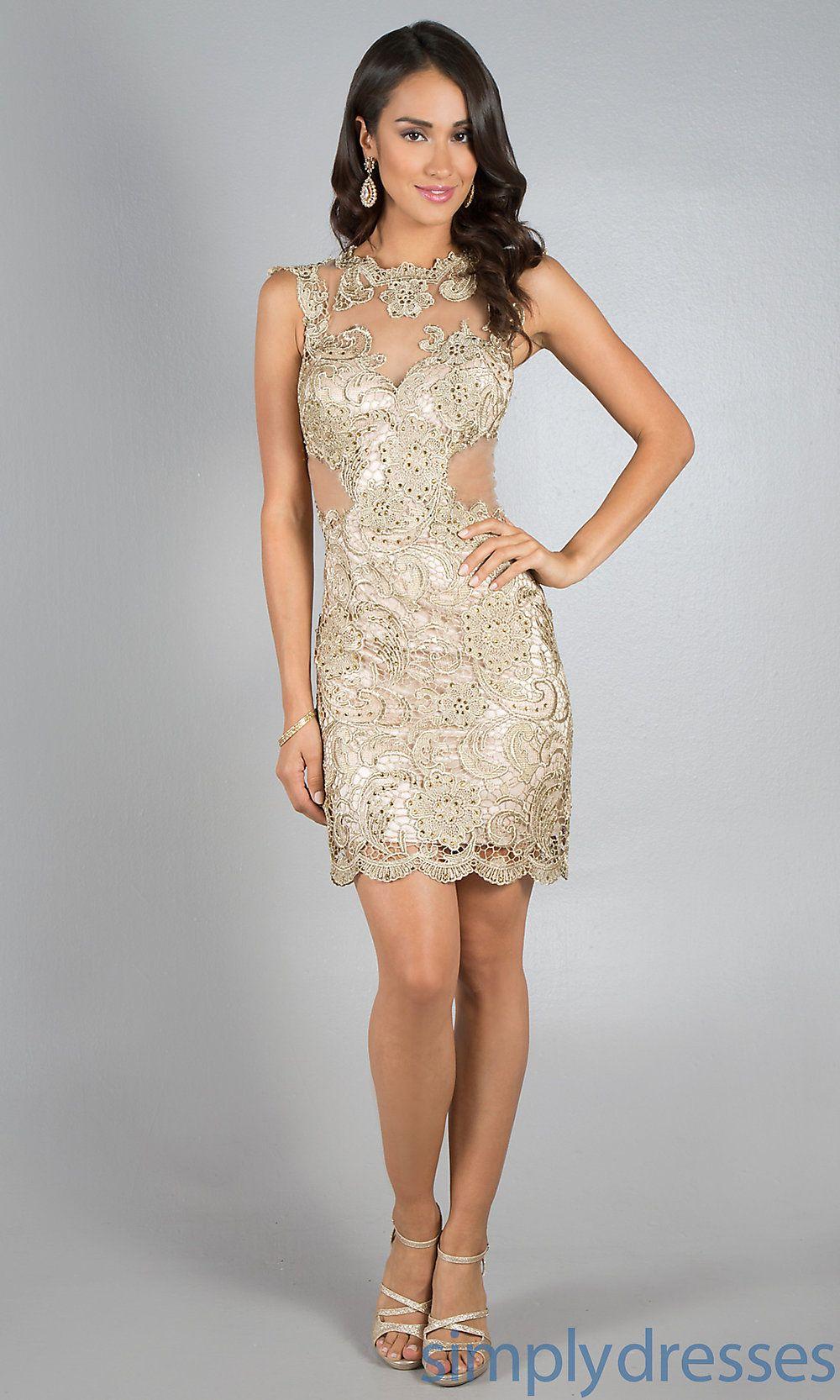 シャンパンゴールドのドレス dressed women pinterest gold