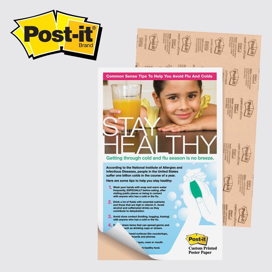 3m Pp1117 Post It Custom Printed Poster Paper 11 X 17 Contact John Statesboromarketingandpromotions Com Custom Print Custom How To Stay Healthy