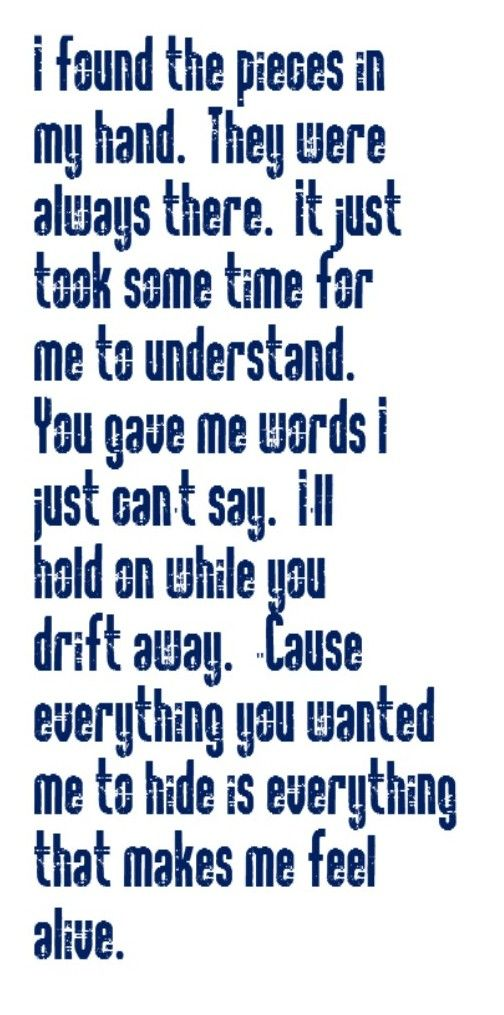 Lyric lyrics drift away : Vertical Horizon - I'm Still Here - song lyrics, song quotes ...