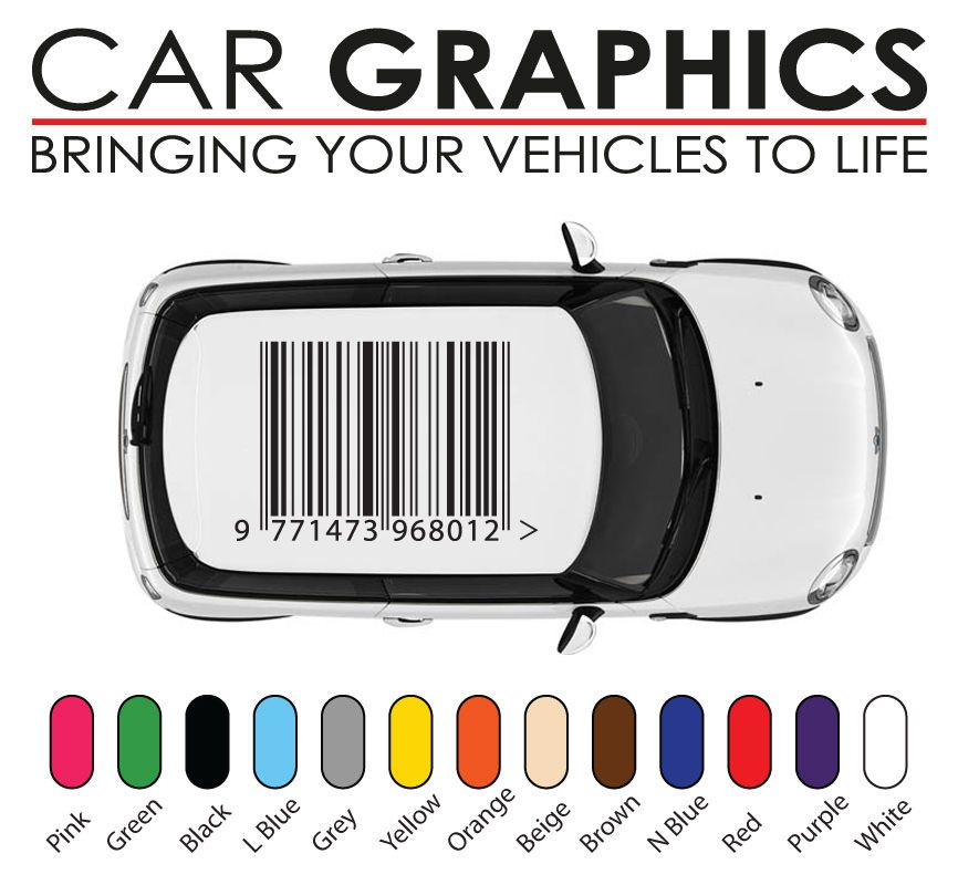 Details about Mini cooper car graphics barcode decals