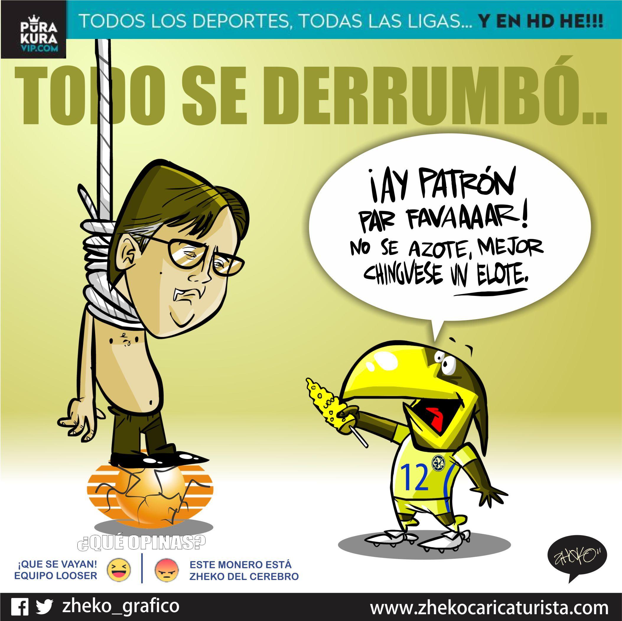 """#ElCartonDelDia """"UN ELOTE PARA LOS NERVIOS"""" @Chivas @ClubAmerica #ChivasLibre"""