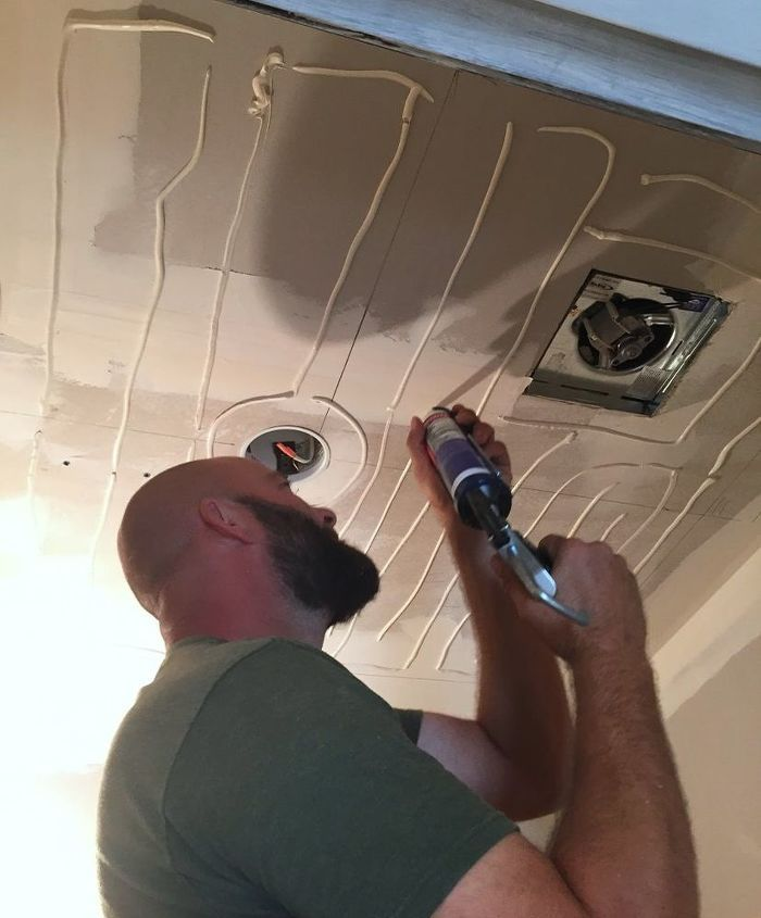 How to Dress Up Your Ceilings With DIY Faux Tin Ceiling ...