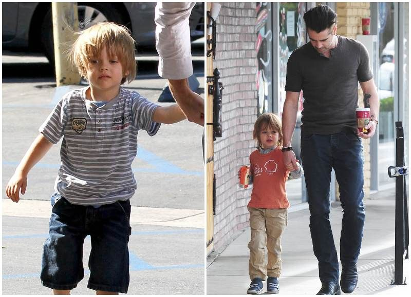 Photo of Colin Farrell & his Son Henry Farrell