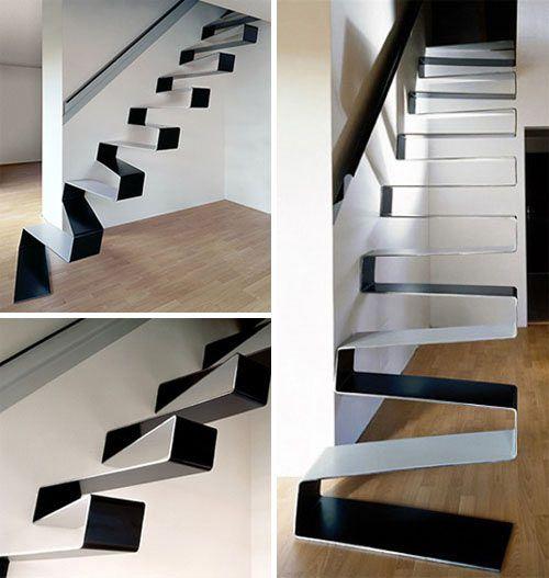 Stairs Ribbon 1 Scala Moderna Scale Moderne Disegno Scala