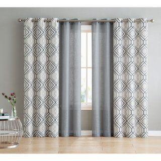 Vcny Home Jackston 4 Piece Curtain Panel Set 38 W X 84 L