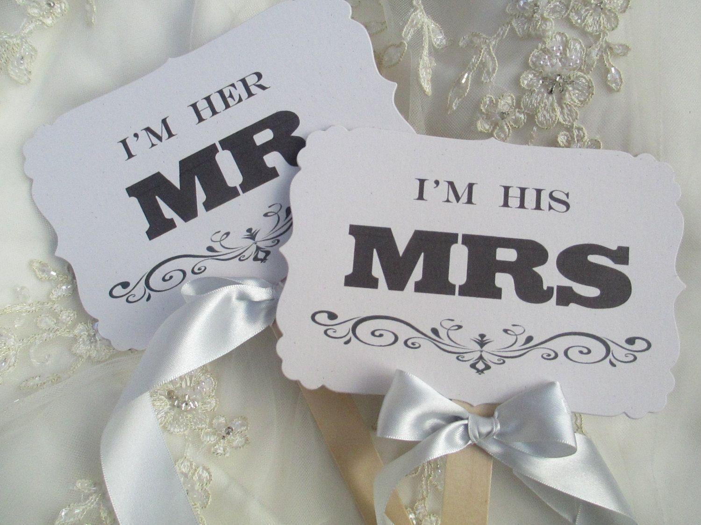 Wedding Sign Mr & Mrs Handmade Wedding Prop Signs White Handmade ...
